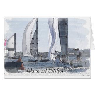 Sailboat Race Christmas Card