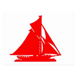 Sailboat Red lg-transp Vero Beach The MUSEUM Zazzl Post Cards