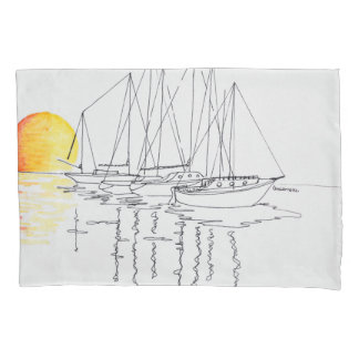 Sailboat Reflection | Concarneau, Brittany Pillowcase