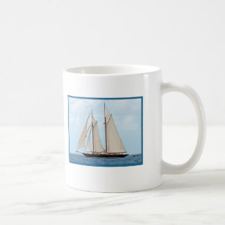 Sailboat Sailing in the BVI I Would Rather Be Sail Classic White Coffee Mug