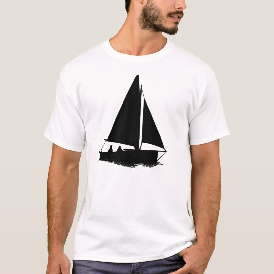 Sailboat Scene Men's Fun Casual T-Shirt