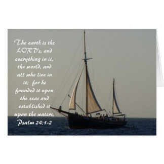 Sailboat Scripture Notecard