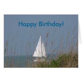 Sailboat - Sea Birthday Card