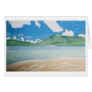 sailboat & seascape card