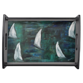 Sailboat serving tray
