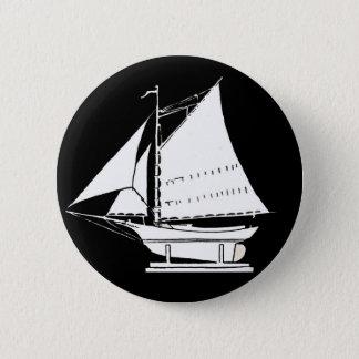 sailboat silhouette 2 inch round button