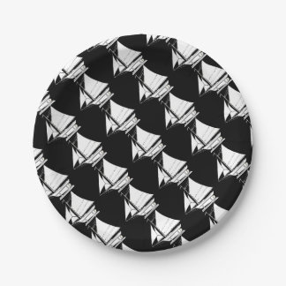 sailboat silhouette paper plate