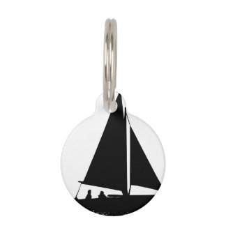 Sailboat Silhouette Pet ID Tag