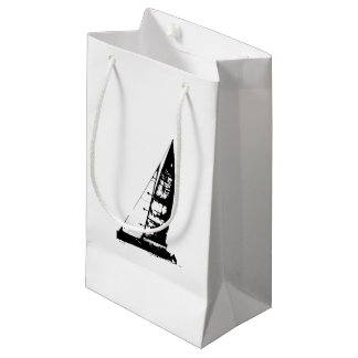 Sailboat Silhouette Small Gift Bag