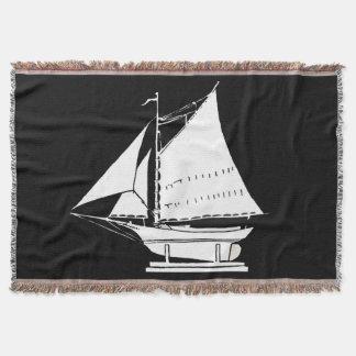 sailboat silhouette throw blanket