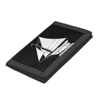 sailboat silhouette trifold wallet