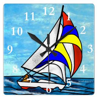 Sailboat Square Wall Clock