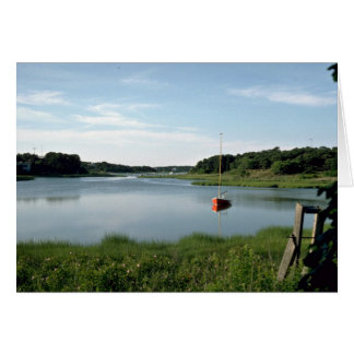 Sailboat, Stepstone Creek, Cape Cod, Massachusetts Card