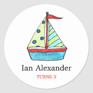 Sailboat Stickers |  Cake Toppers