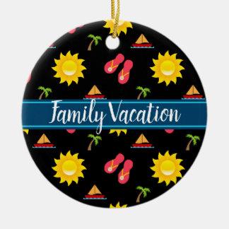 Sailboat Sun Sandals Vacation Ceramic Ornament