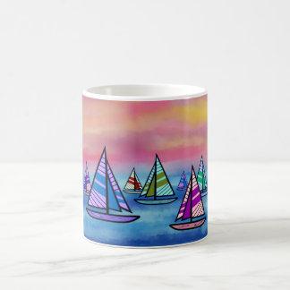 Sailboat Sunrise Mugs