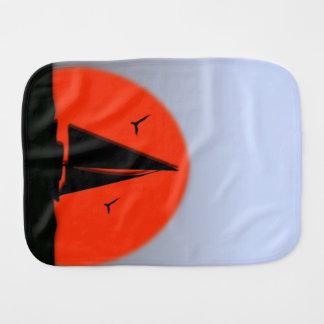 Sailboat Sunset Burp Cloth