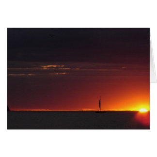 Sailboat Sunset Card