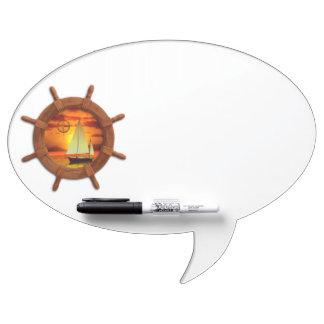 Sailboat Sunset Dry Erase Whiteboard