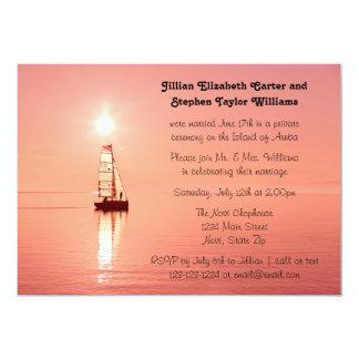 Sailboat Sunset Photo - Wedding Announcement