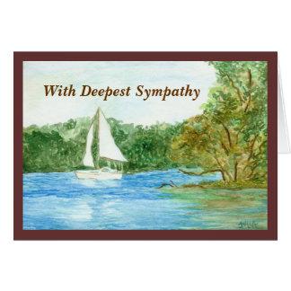 Sailboat Sympathy Card