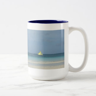 Sailboat Two-tone Mug