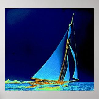 Sailboat Wayward 1890 Poster