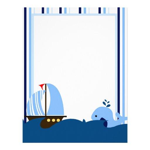 Sailboat & Whale Letterhead