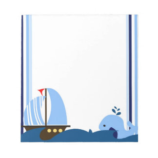 Sailboat & Whale Notepad