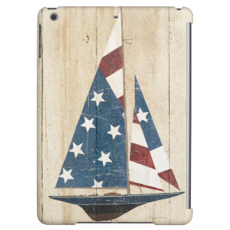 Sailboat With American Flag Cover For iPad Air