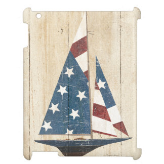 Sailboat With American Flag iPad Case