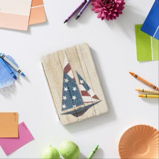 Sailboat With American Flag iPad Mini Cover