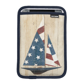Sailboat With American Flag iPad Mini Sleeve