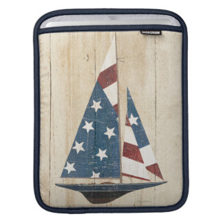 Sailboat With American Flag iPad Sleeve