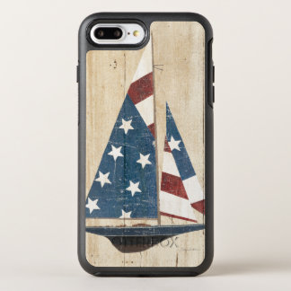 Sailboat With American Flag OtterBox Symmetry iPhone 8 Plus/7 Plus Case