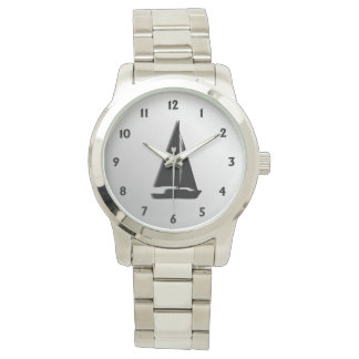 Sailboat with Black Numbers Watch
