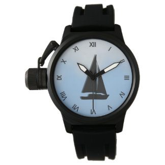 Sailboat with Roman Numbers Watch