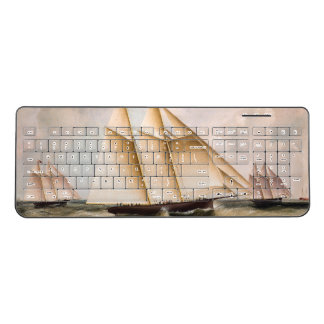 Sailboat Yachts Boats Sea Wireless Keyboard