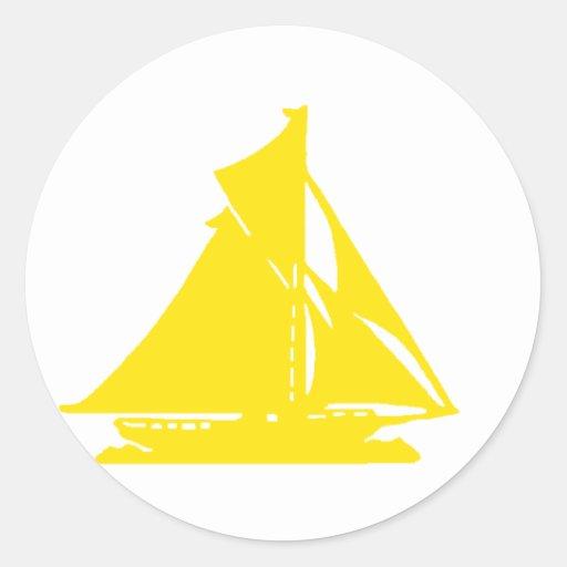 Sailboat Yellow lg-transp Vero Beach The MUSEUM Za Stickers