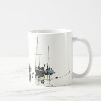 Sailboats Anchored Art Mug