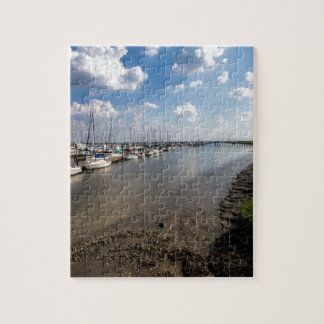 Sailboats and Mussel Beds Jekyl Island Georgia Jigsaw Puzzle