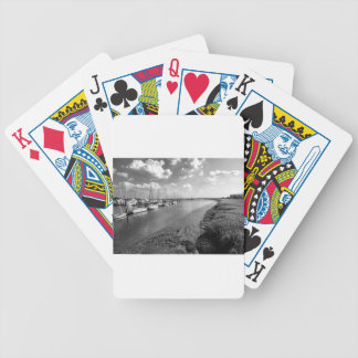 Sailboats and Mussel Beds Jekyl Island Georgia Poker Deck