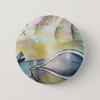 Sailboats and Seashells 2 Inch Round Button