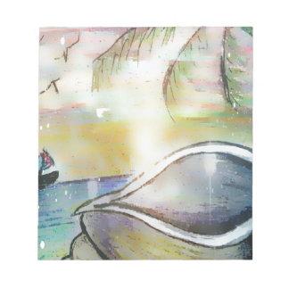 Sailboats and Seashells Notepad