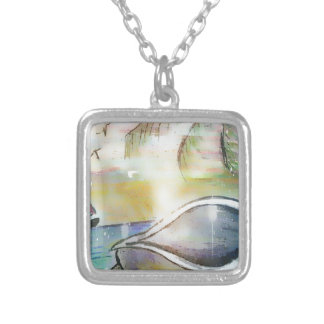Sailboats and Seashells Silver Plated Necklace