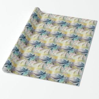 Sailboats and Seashells Wrapping Paper