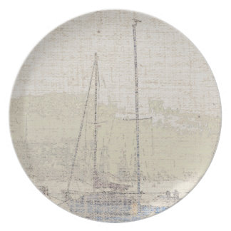 Sailboats Art Dinner Plate