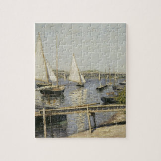 Sailboats at Argenteuil by Gustave Caillebotte Jigsaw Puzzle