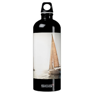 Sailboats at Sunset Water Bottle