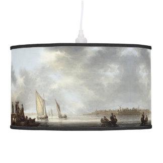 Sailboats Boats Ocean Harbor Dock Hanging Lamp